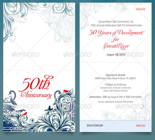 Folded Anniversary Ticket Template - a photo on Flickriver