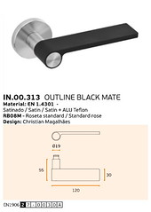 IN.00.313 OUTLINE BLACK MATE
