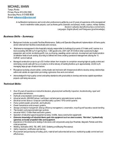 related post of construction safety manager resume