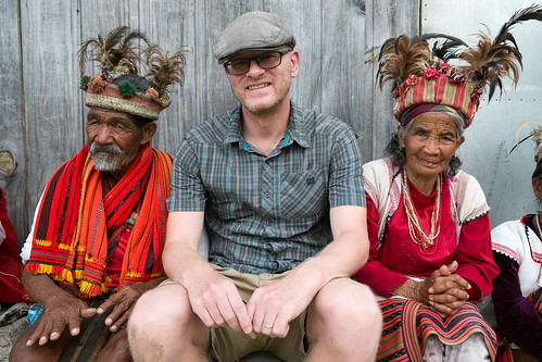Paul and the old-timers. Banaue viewpoint