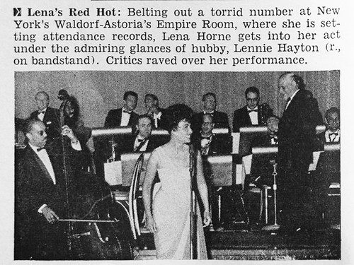 Image result for lena horne at the waldorf