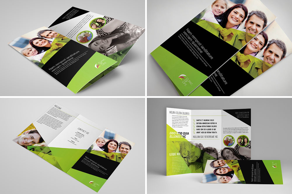 Realistic Tri Fold Brochure Mockup Mockups PSD Templates for - brochures templates word