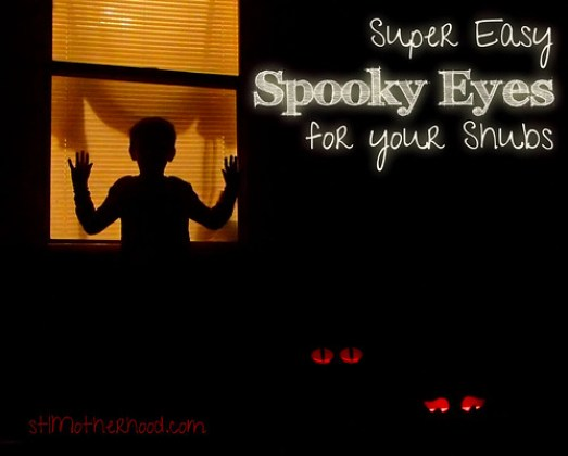 spooky glowing Halloween eyes