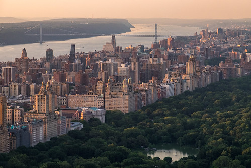 Upper West Side and Central Park seen from Top Of The Rock