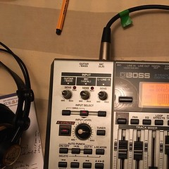 Broke out the old school equipment to record Freakcidents for upcoming audiobook to release August 1st