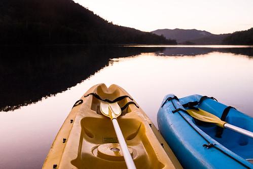 Kayaking on Rosebery Lake