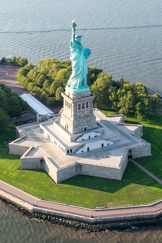 Statue of Liberty seen from the air