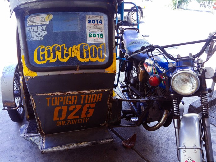 tricycle that says Gift of God-2