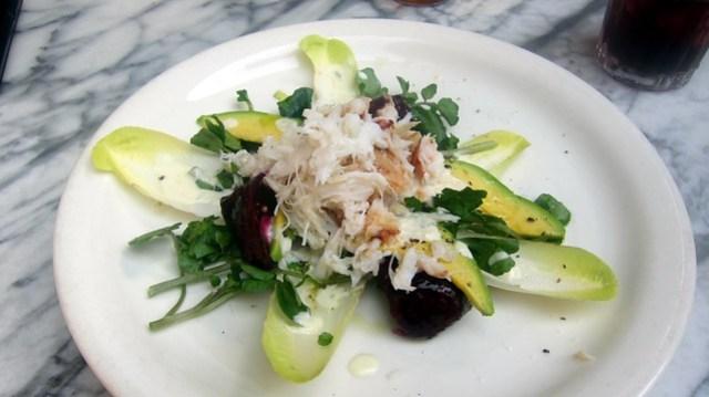 dungeness crab salad at gjelina