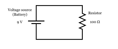 you will build the simple dc voltagedivider circuit shown below