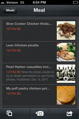 Evernote Food iPhone