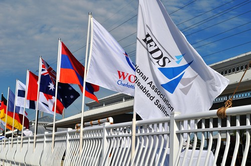 Flag of Nations for the IFDS Worlds 2012 on Charlotte Harbor, Florida, Jan. 7, 2012