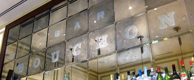 bar bouchon mirrored wall