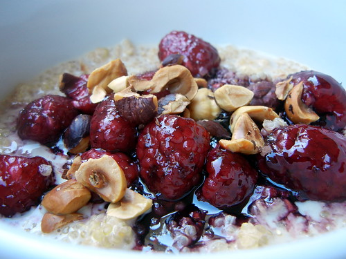 Quinoa Porridge with Raspberries