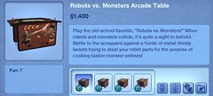 Robots vs. Monsters Arcade Table