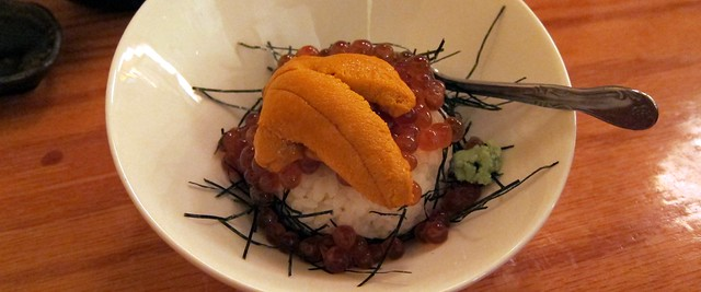 uni ikura don at sushi house hayakawa