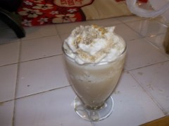 Coffee Slurpie with whipped cream