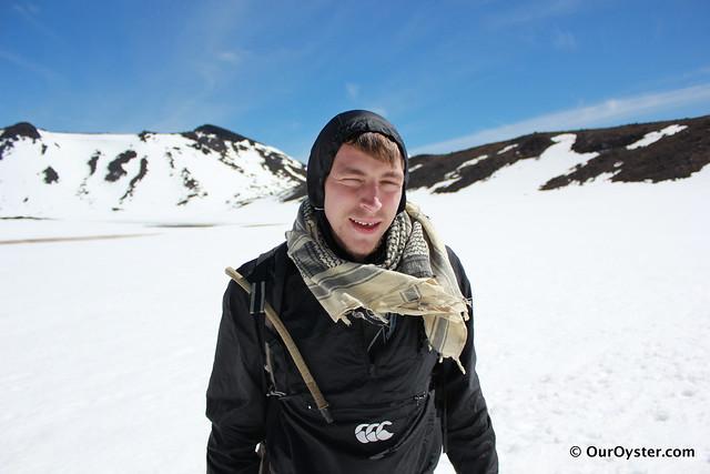 James on the Tongariro Crossing