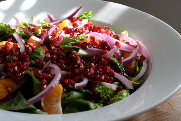 satsuma red onion pomegranate salad