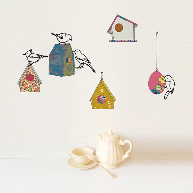 Mimi Lou birds and birdbox wall stickers 1
