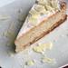 bananen-cheesecake mit weißer schokolade & biskotten