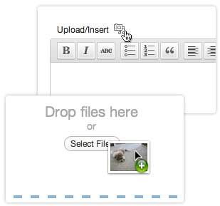 Ciri baru drag and drop untuk uploader WordPress 3.3