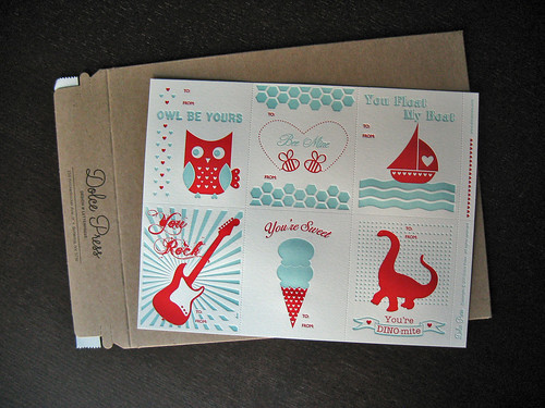 Letterpress Valentine's Day Cards