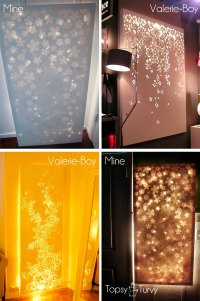 Lit up canvas wall decor- Elmers look for less | Ashlee ...