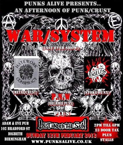 Last Under The Sun / War System Adam and Eve Feb 12th 2012
