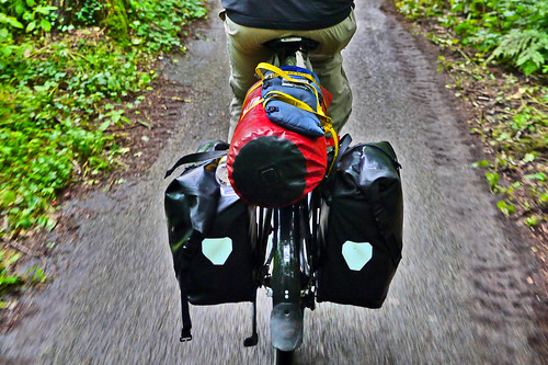 Dry Bag Between Our Panniers