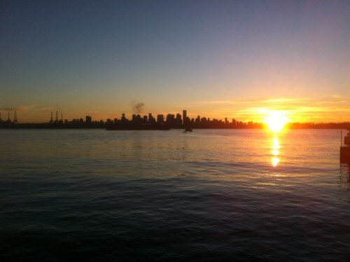 Sunset in Vancouver and North Vancouver