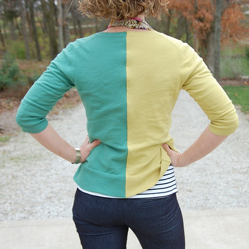 DIY Two-Tone Cardigan