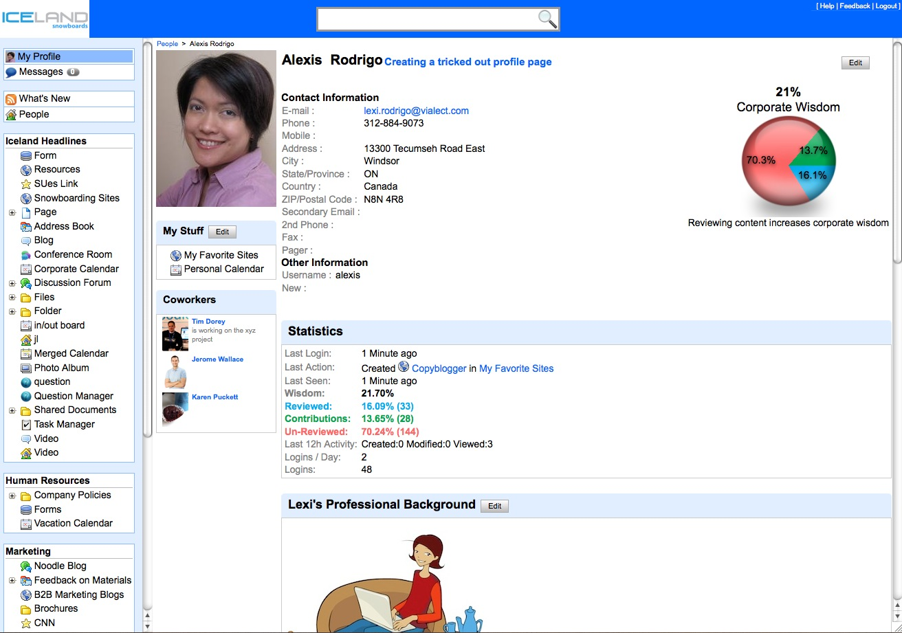 Premier Nursing Services Travel Nurse Jobs In California Social Intranet Feature Employee Profile Page In Noodle