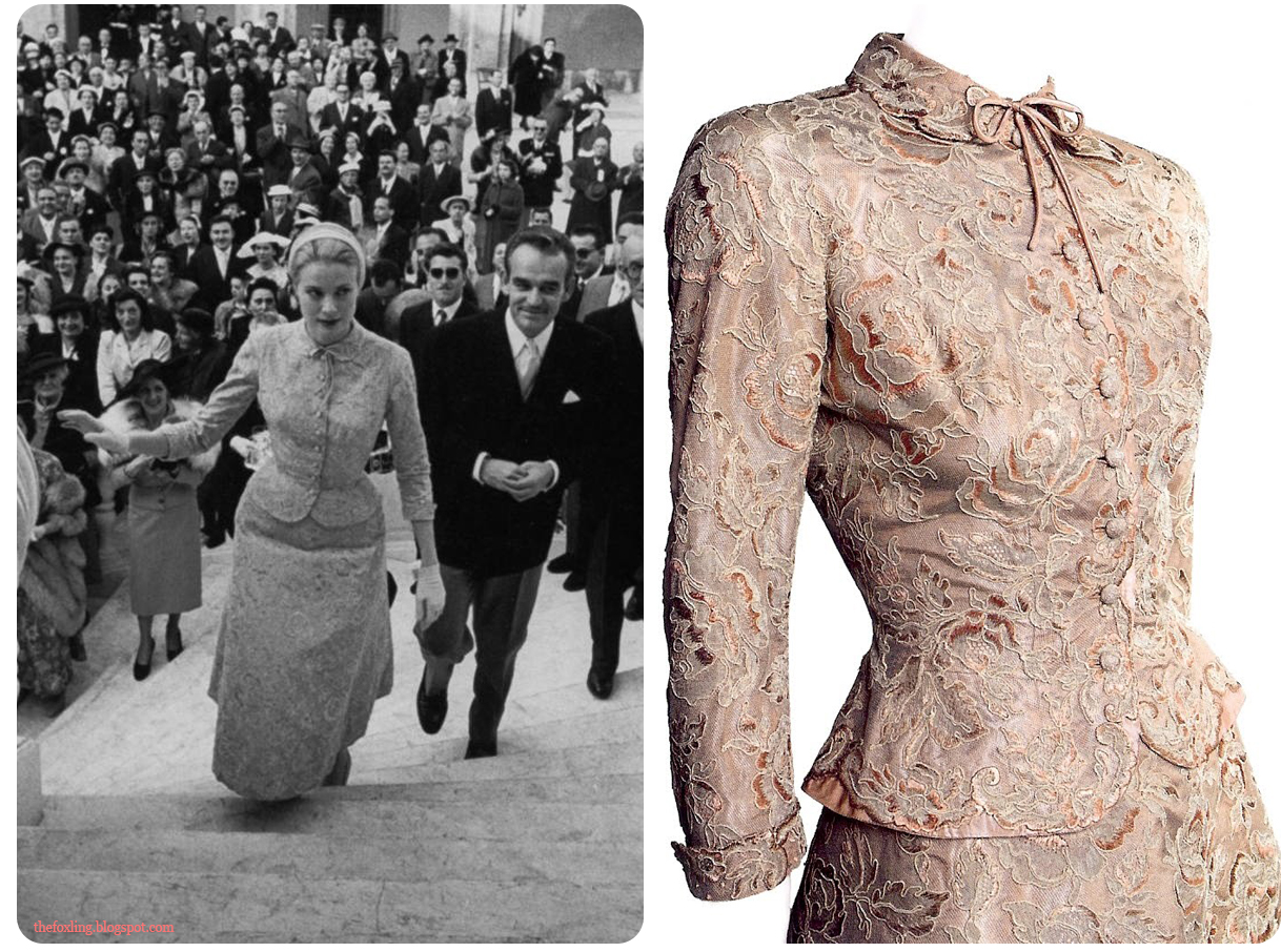 grace kellys wedding civil wedding ceremony dresses Grace Kelly s Civil Wedding Dress