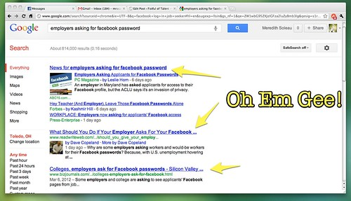 employers asking for facebook password - Google Search