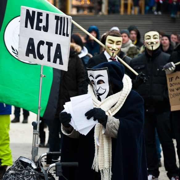 ACTA demonstration, Stockholm