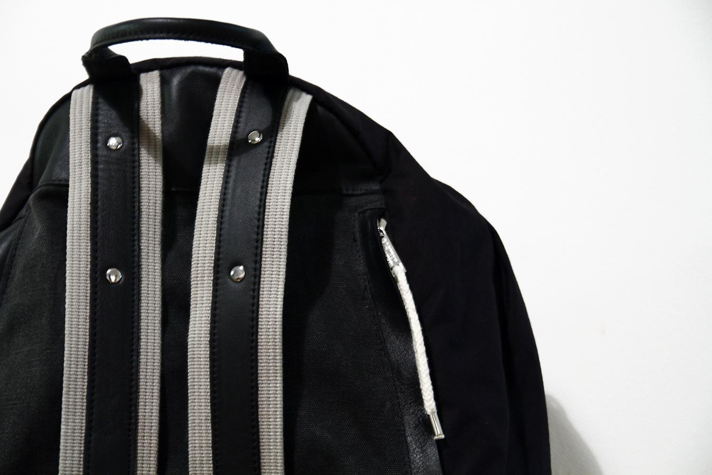 Tuukka13 - Kris Van Assche x Eastpack Backpack - 1st Edition - Black Leather - Grey Canvas - 2011