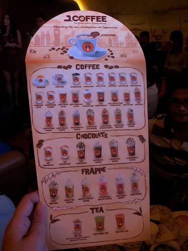 J.CO menu