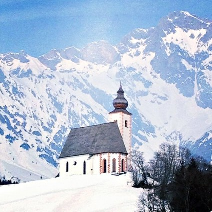 Church in Austrian Alps