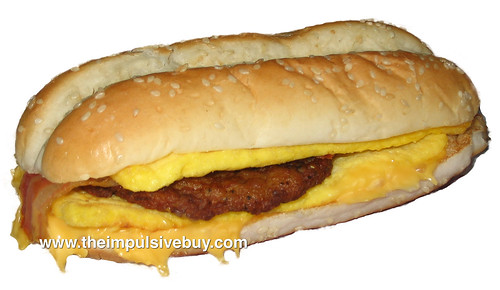 Burger King Enormous Omelet Sandwich