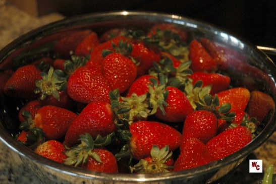 bowl of strawberries wc