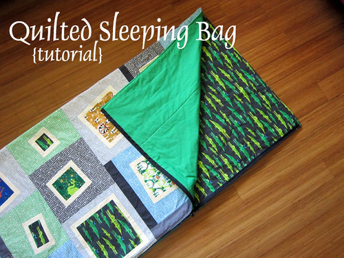 Quilted Sleeping Bag {Tutorial} — Stitched In Color