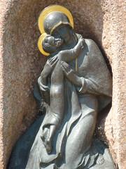 Mary & Baby Bronze Statue