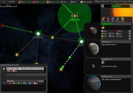 Juego de estrategia en el espacio