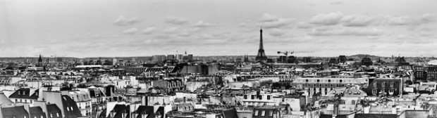 Panorama of Paris from the Pompidou Center