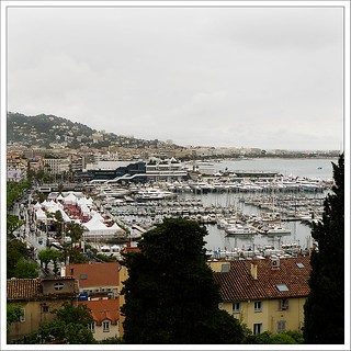 Looking down into Cannes