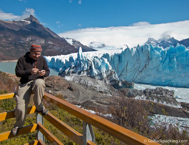 Searching for a connection at Perito Moreno Glacier