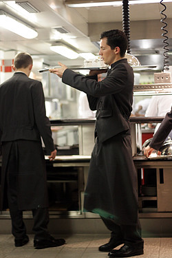 waiter at Alain Ducasse