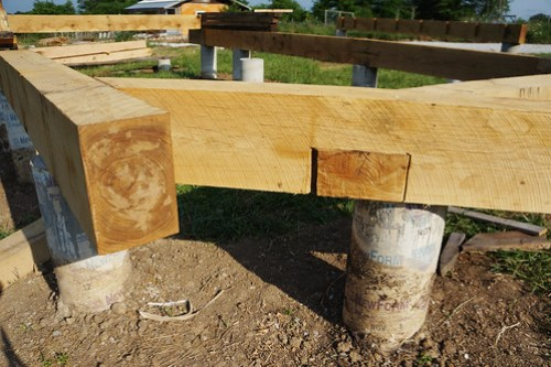 Half lap timber frame joint
