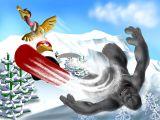 juego de nieve aventura
